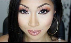 Summerfun Orange Glitter Eyes ♡ Makeup Tutorial
