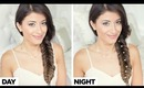 Reverse Fishtail Braid Day to Night