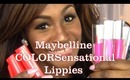 Review: Maybelline High Shine Lip Glosses & Color Sensational Lipsticks Swatches