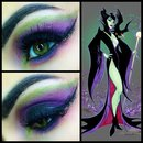 My Maleficent inspired makeup