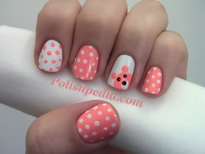 One of my cutest designs! :)  Watch My Video Tutorial @ http://polishpedia.com/teddy-bear-nail-art.html