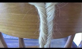 "Simple ""fishtail braid"" tutorial (thin and thick braids)"