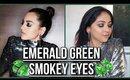 SONAKSHI SINHA Inspired Makeup | Smokey Emerald Green Eyes for Parties/Festivals | Stacey Castanha