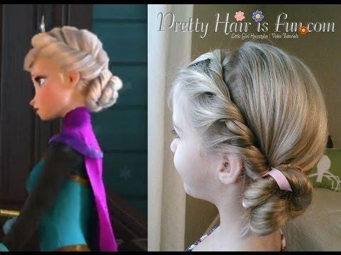 Elsa S Coronation Hairstyle From Disney S Frozen Pretty Hair Is Fun Girls Hairstyle Tutorials Video Beautylish