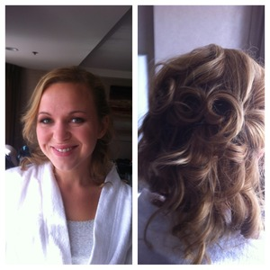 Soft Waves and Shimmery soft makeup-perfect for a California Wedding Makeup by Chelsea Reeds Hair by Anjelah Monnreal