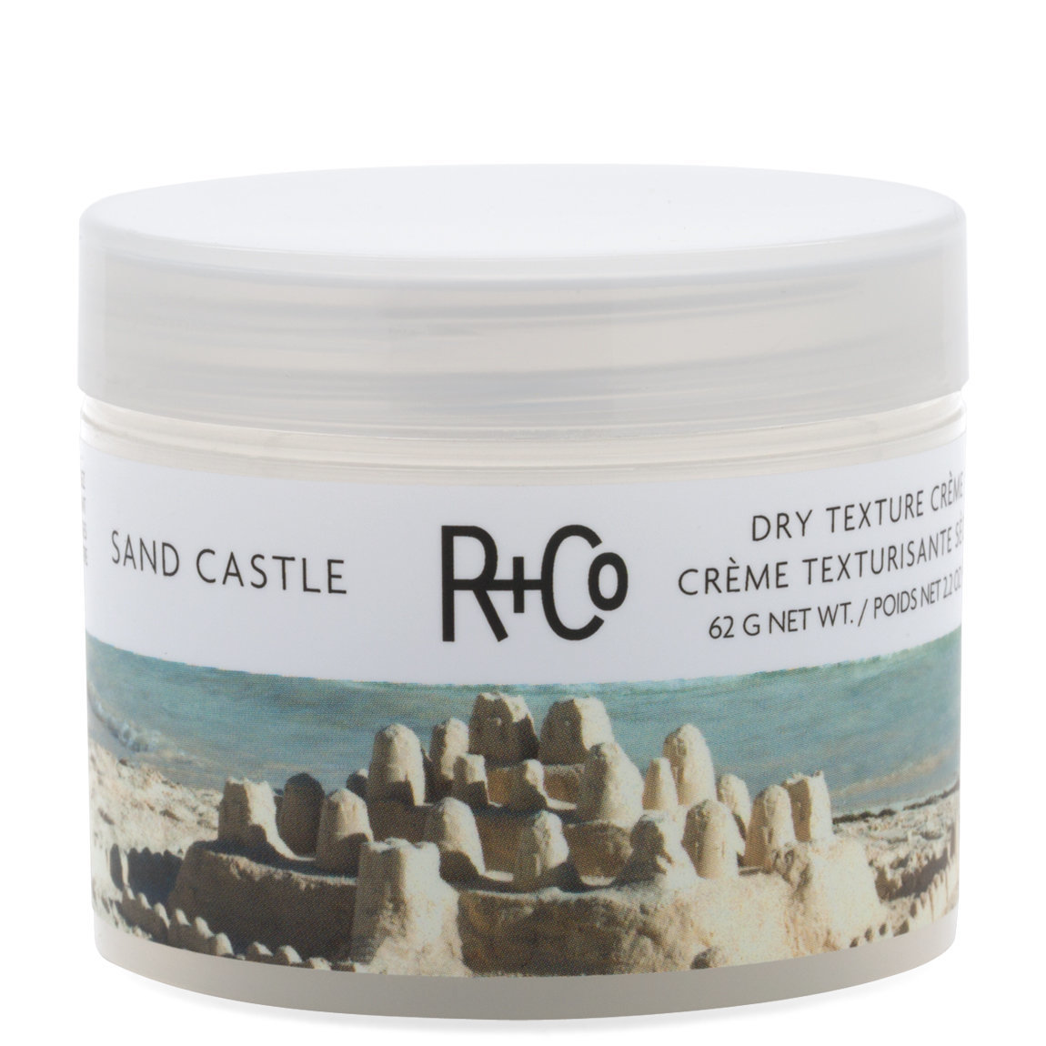 R+Co Sand Castle Dry Texture Cream product swatch.
