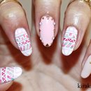 Floral Tribal Nails