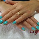 Tiffany Nails/Nails/Gold Nails/French Nails/Crystal