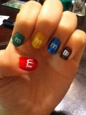 My M&M nails!