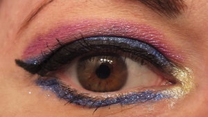 Darling Girl Cosmetics: Lid and lower lash line: Three Day Weekend Crease: Stupid Parlor Chicks Inner Corner: Chick me Out