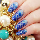 Blue Gradient Fishnets