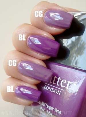 Butter London Brummie vs. China Glaze Spontaneous