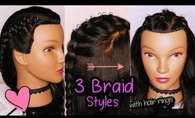 3 Easy Braid Styles with Hair Rings | Pierced Hair