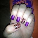 Clemson Tiger nails