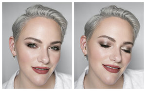Eyeshadow is Urban Decay Eyeshadow Primer Potion in Sin + Julep Eyeshadow Stick in Taupe Shimmer, Róen Beauty 52° Eyeshadow Palette (shades Yep & Bask)  Full makeup details here: https://www.instagram.com/p/Bx-TzOJljHc/