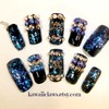 Black & Blue Spiky gems