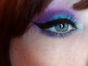 blueish teal and purple!