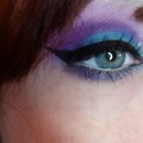 pretty teal blue and purple