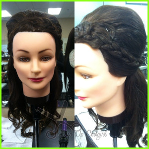 french braid the top, tease the back, add some curl and tuh duh!