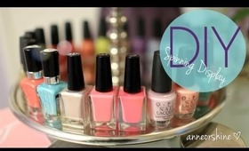 Make Rotating Nail Polish & Jewelry Display EASY How To DIY