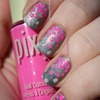 Gradient Dot Breast Cancer Awareness Nails