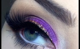 Purple glitter look inspired by @MakeupbyMia