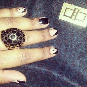 Quick nail art.