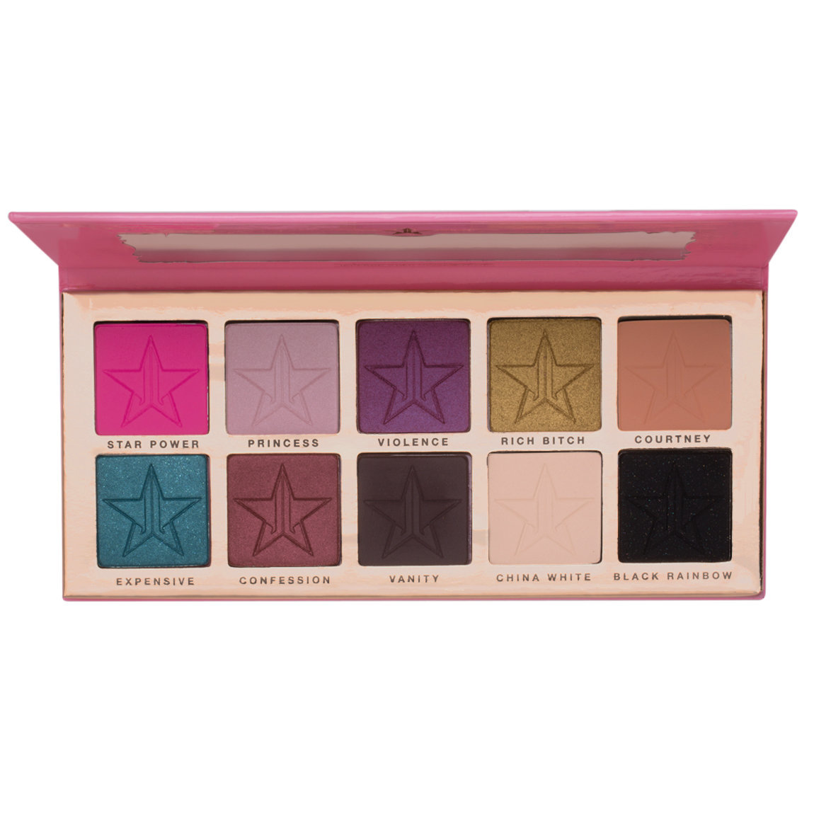 Jeffree Star Cosmetics Beauty Killer Eyeshadow Palette product smear.
