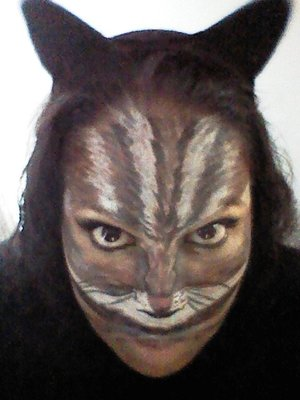 My practice run of creating a kitten mask done with eyeliners and eye shadows.  products shown in my video https://www.youtube.com/watch?v=-zX78m_A1NQ