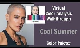 Cool Summer and Winter Color Palette Color Analysis | Cool Skin Undertone | What Colors Work For You