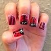 Cute Ladybug Nails