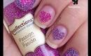 Microbead Heart Nails by The Crafty Ninja