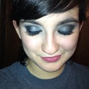 Blue Gray Smokey Eye