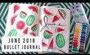 PLAN WITH ME JUNE 2018 | BULLET JOURNAL IDEAS | ANN LE