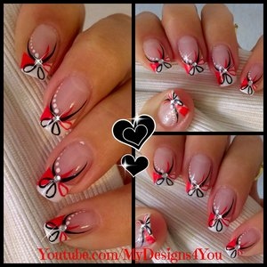 Red and Black Floral Nails | Abstract Nail Art https://www.youtube.com/watch?v=2BnI2TqbgMU