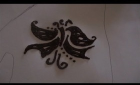 Henna Tutorial: Butterfly Henna Design