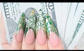 Encapsulated Real Money Acrylic Nails Tutorial