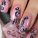 Pink and lilac leopard print nails