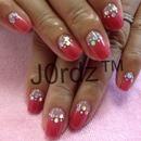 cherry Razzle nails