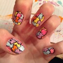 my version of the jigsaw nails :)