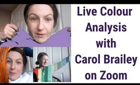 Live Colour Analysis on Zoom - Experience an In-Person Process Virtually with Carol Brailey