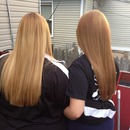 Straight long layer haircut