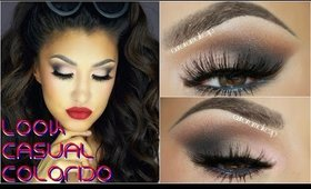 Labios Rojos y Ojos Neutral / Red Lips & Neutral eyes - @auroramakeup