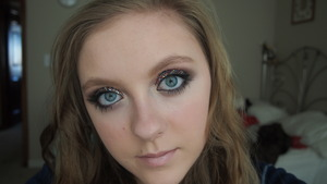 This was my New Years Eve Makeup I really enjoyed doing this look. I have never done anything like it before!