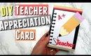DIY Teacher Appreciation Card Ideas, Handmade Cards for Teacher Appreciation Week DIY Pinterest Card