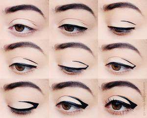 Upside down eyeliner tutorial! http://go-vamp.blogspot.com