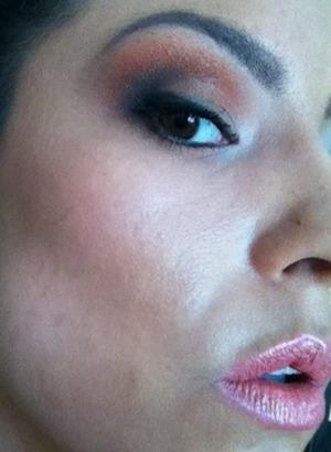 Smokey orange/black/brown demo look for Sweet Sin Couture photo shoot