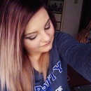 Purple to blonde ombre.