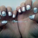 Silver Foils on White