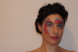 Abstract art painted on my face